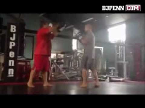 BJ Penn waking up the body before camp