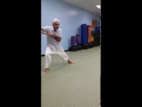 There Can Be Only Juan!  Master Juan, Master of Weapons Bo Staff Demo - Cota's Martial Arts