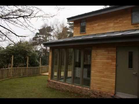 Bespoke Self Build House using Timber Frame Construction.wmv