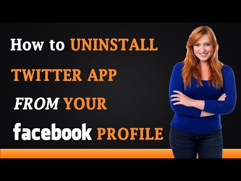 How to Uninstall Twitter App from Your Facebook Profile