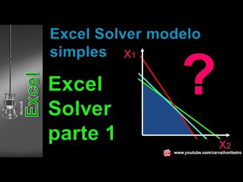 Tutorial Excel Solver | Modelo de programação linear | Parte 1