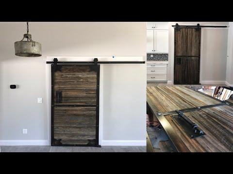 Industrial sliding barn doors | DIY