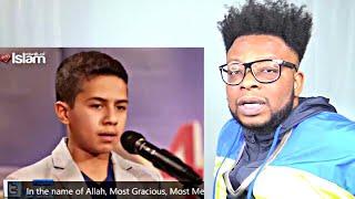 CATHOLIC REACTS TO God Gifted Talent of Syrian Kid ~ Amazing Quran Recitation, imitates Abdul Basit