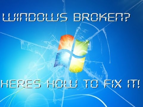 How To Create A Windows 7 Repair Disk and Use It!