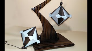 Origami Kusudams - Diamond. Handmade Stress-relieving Table Decoration. Diy Valentine Gift Ideas.