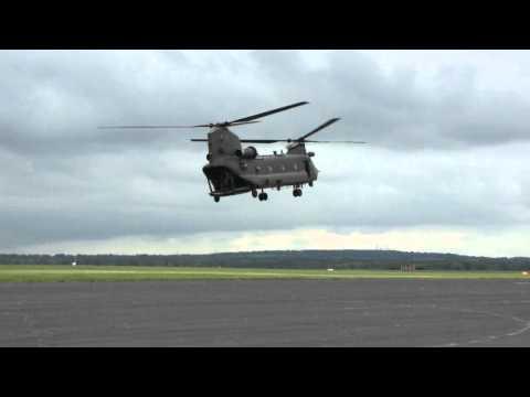 Chinook rolling display at RAF Odiham June 2012