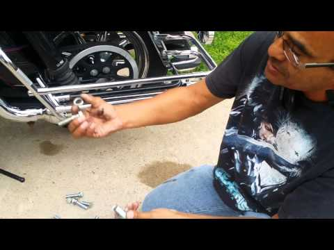 How to install a lowering kit on motorcycle  part 1