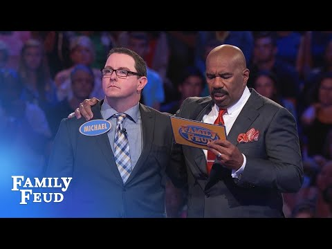 Michael's in it to WIN IT! | Family Feud