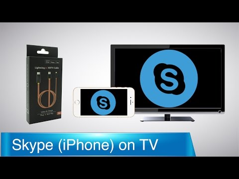 How to Connect iPhone and iPad to TV: Skype Call