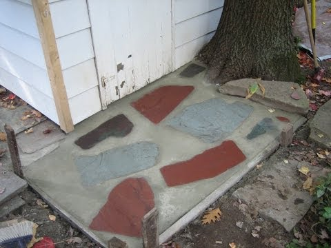 Concrete-Flagstone Walkway-Step by Step Instructions