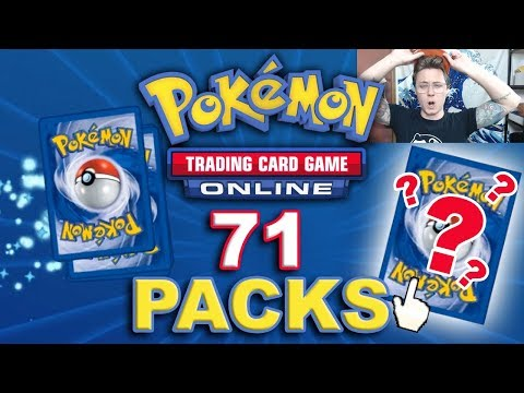 Opening 71 Random Booster Packs - Digital PTCGO Pack Opening w/ hit montage!