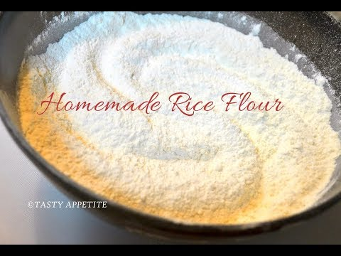 How to make rice flour at home? | Chawal Ka Aata | Homemade Rice Flour easy recipe