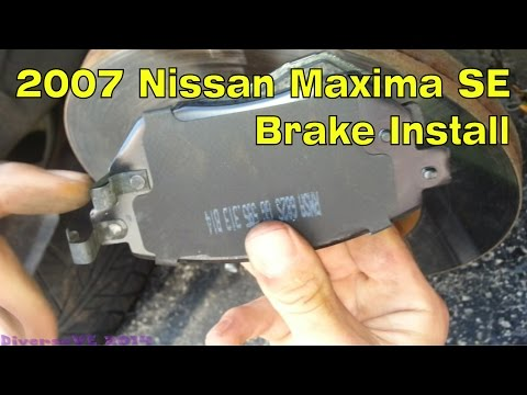 2007 Nissan Maxima 3.5 SE 240000 miles Front Brake Pads Replacement