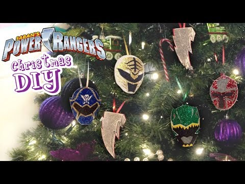 How To Make Power Rangers Christmas DIY! Easy Ornaments Decorations Tutorial!