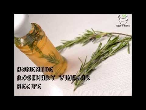 DIY Recipe To Make Natural Rosemary Infused Vinegar At Home | Bowl of Herbs