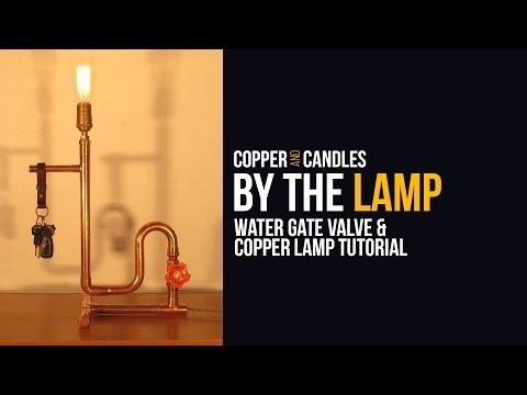 DIY Water Valve Light Switch Copper Steampunk Lamp Tutorial Industrial Design Gate Valve Switch