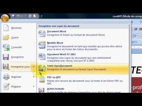 Convertir son CV Word 2007 au format PDF