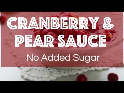 Slow Cooker Cranberry and Pear Sauce No Added Sugar