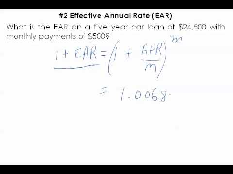 Compute Effective Annual Rate (5.1.2)