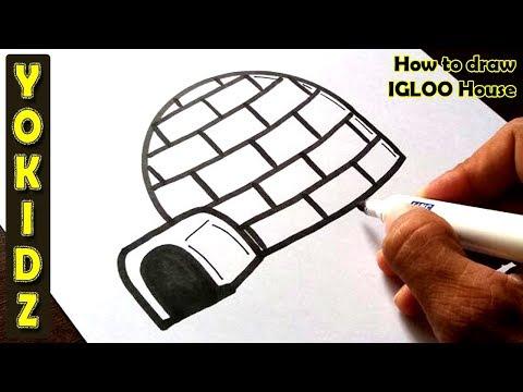How to draw IGLOO house