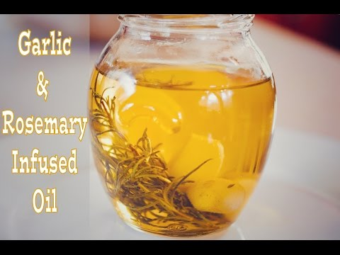 How To Make Garlic and Rosemary Infused Oil (View in HD)