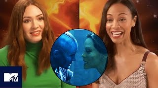 Guardians Of The Galaxy 2 Gamora v Nebula Fight BEHIND THE SCENES 👊✨ | MTV