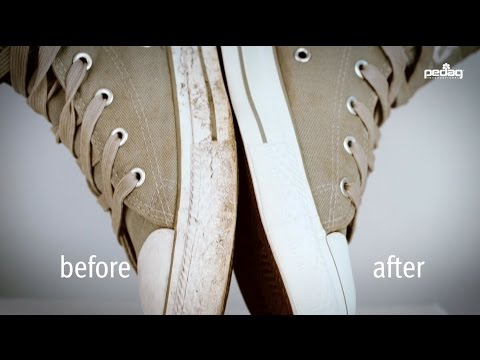 How to clean bright sneaker soles