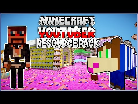 Youtuber Mobs! Minecraft Youtuber Resource Pack