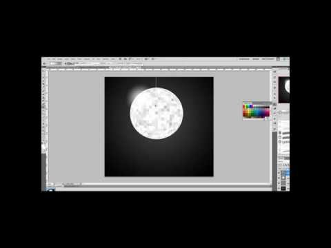 Photoshop Tutorial-Make a DiscoBall in 5 steps!