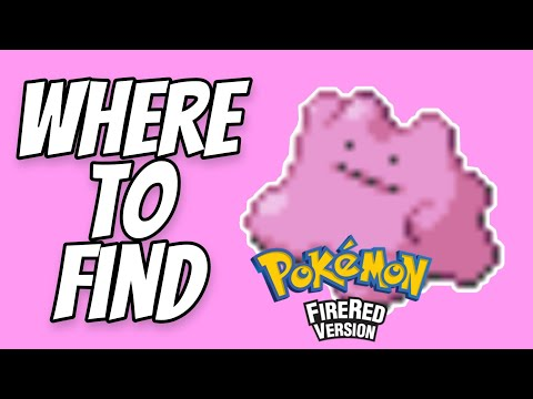 Where to find Ditto in Pokemon Fire Red