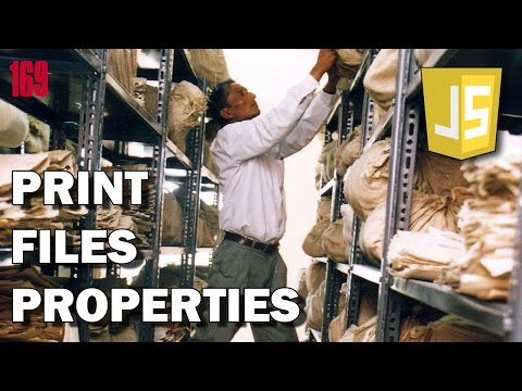 JAVASCRIPT EXERCISES How to print file properties
