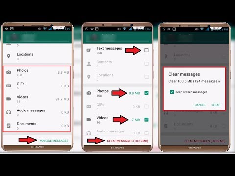 Whatsapp Amazing Setting to Delete Particularly Images, Videos, Audios, From Conversation in Android
