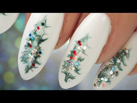 Christmas Tree Nail Art - Step by Step Tutorial