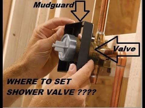 PLACEMENT OF SHOWER VALVE...subscriber request