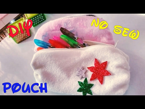 How to make Pouch - No Sew