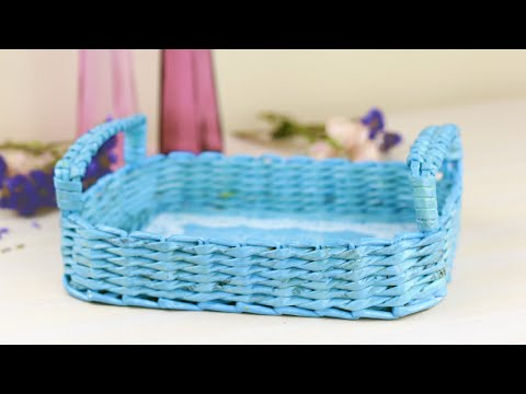 DIY Decorative Woven Paper Tray