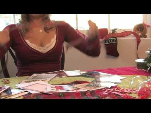 Christmas Crafts : How to Make a Christmas Card Wreath