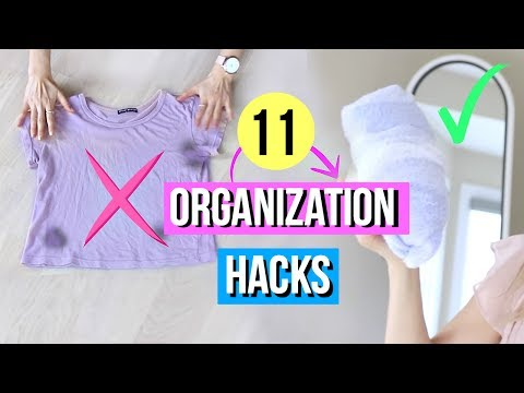 11 Organization Hacks for Clothing EVERY Girl Must Know!