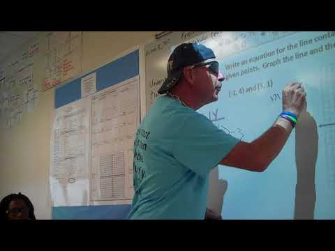 Finding the Slope of a Line From 2 Points Algebra Rap
