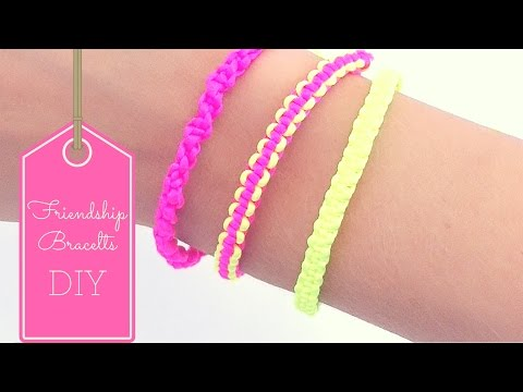 DIY Friendship bracelets ( EASY)