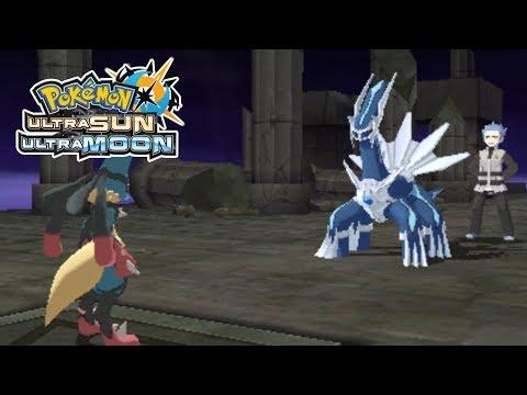 Vs Team Galactic Cyrus at Spear Pillar | Pokemon Ultra Sun and Ultra Moon