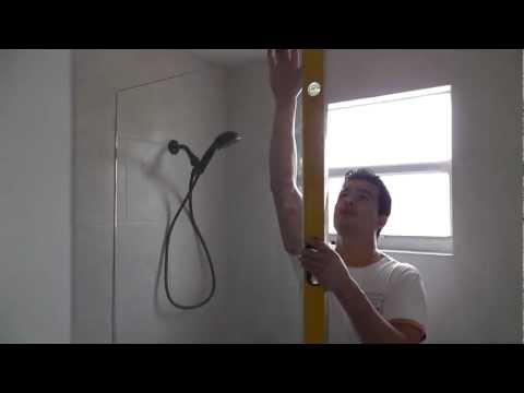 how to install a frameless shower glass door