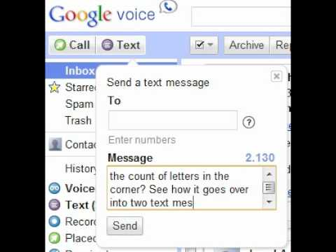 Google Voice - Really Long Text Messages