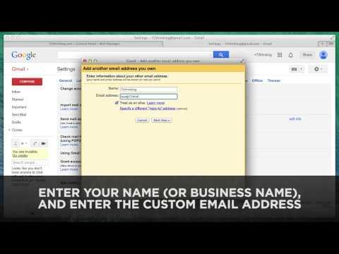 Add Custom Email Address Into Free Gmail Account