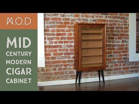 Building a Cigar cabinet - Mid Century Modern - DIY