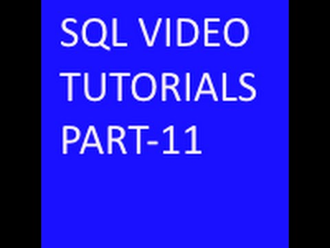 Eliminating duplicate rows in SQL Tutorial part-11
