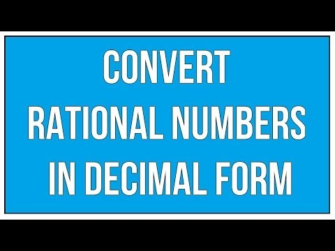 Convert Rational Numbers In Decimal Form