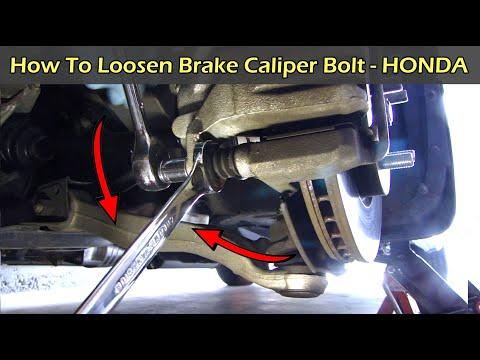 How To Remove Caliper Bolt on Honda Odyssey