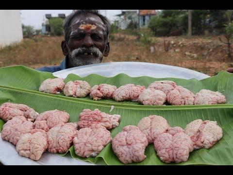 Mutton BRAIN Fry Prepared my DADDY / Village food factory