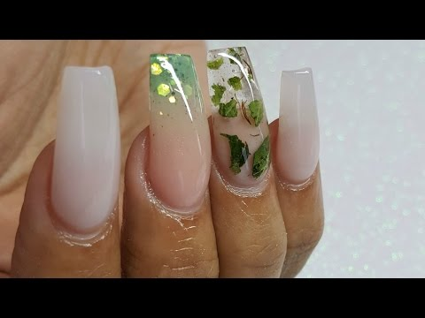 HOW TO: Encapsulated WEED nails, Happy 4/20 Nails